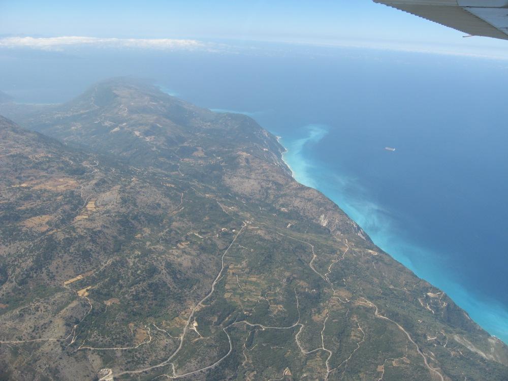 The Albanian coast and Adriatic Sea