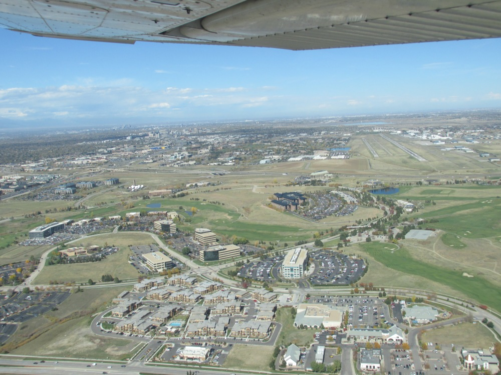 Leaving Centennial for a flight all around the class bravo airspace of Denver.