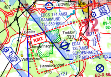 Radio mandatory zone, RMZ