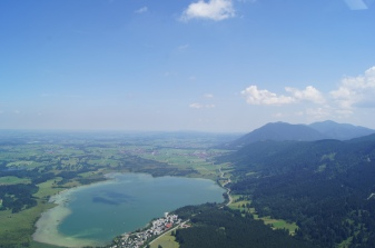 Area of Neuschwanstein, Allgäu, Germany by general aviation