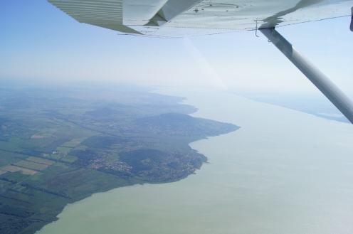 Lake Balaton, Hungary by general aviation
