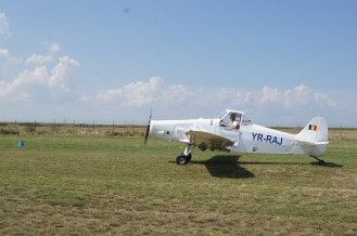 Banner towing airplane, Tuzla airfield, Romania