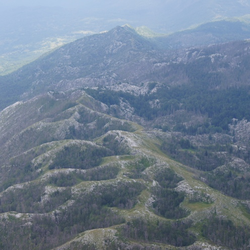 Montenegro, craters from the Kosovo war in 1999