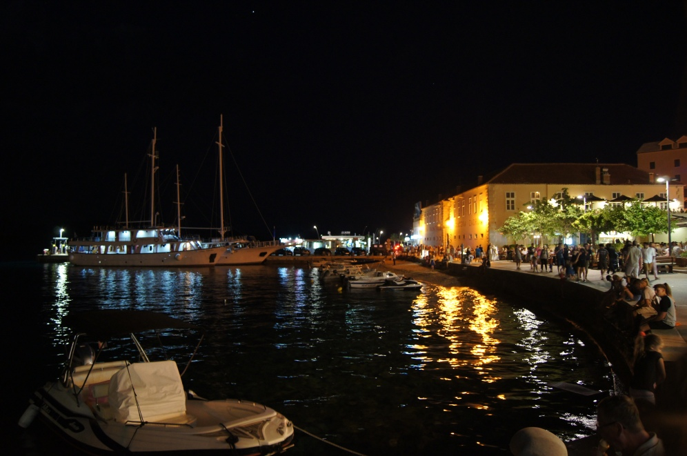 Bol at night, Brač Island