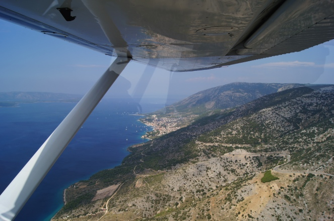 Bol, Brač Island by general aviation
