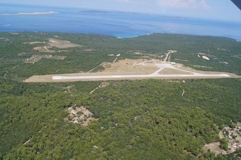 Airport of Mali Losinj, Croatia